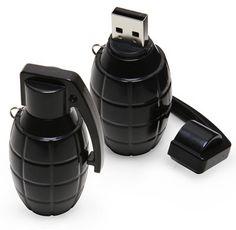 A hand grenade usb