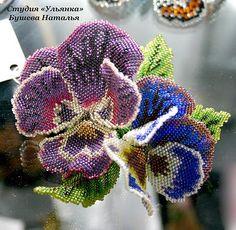 Блог Елены Назарчук: Цветы из бисера от Натальи Бушевой и других мастеров.