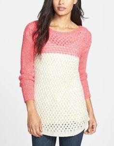 Bright & fun! Colorblock Basket Weave Sweater