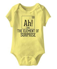 Look at this #zulilyfind! Banana 'The Element of Surprise' Bodysuit - Infant by American Classics #zulilyfinds