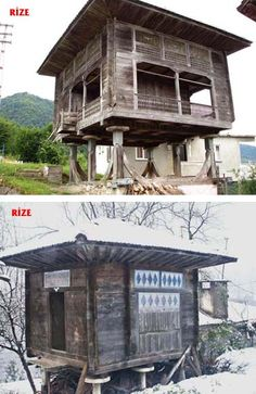 Architecture Nature Naliya/Serander, a model of Lazian granary architecture ⚓ Eastern Blacksea Region of Turkey Wooden Architecture, Modern Architecture Design, Vernacular Architecture, Architecture Office, Woodworking Enthusiasts, House In Nature, Istanbul Turkey, Most Beautiful Pictures, Beautiful Homes