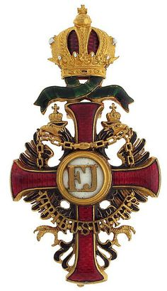 Franz Joseph Order, Officer's Cross breast badge, 'Steckkreuz', with WD, 40 x 75mm, WWI, Vinc Mayer's Sohne, Vienna. 01