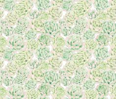 Hand Painted Succulent Wallpaper fabric by anom-ALY on Spoonflower - available for custom modifications. Succulents Wallpaper, Home Wallpaper, My Room, Custom Fabric, Spoonflower, Fabric Design, Custom Design, Graphic Tees, Gift Wrapping