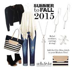 """""""Summer to Fall #stelladotstyle Stella & Dot @stelladot #toms"""" by jennifoster on Polyvore"""
