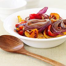Tri Color Roasted Peppers and Red Onions