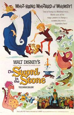 Vintage 'Sword in the Stone' Poster  i want this poster so bad. story of my childhood