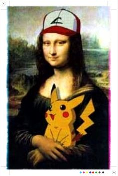 Mona and Pikachu....