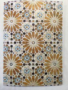 Shop Vintage Oriental Islamic Pattern Design Drink Coaster created by DigitalTYCOONS.