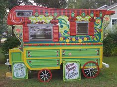 Gypsy Fortune teller trailer - we need this to sell our Etsy products from, street-side. :D