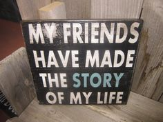 Friendship Custom Quote Board  Black and White by girlinair, $30.00