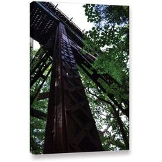 ArtWall Kevin Calkins Trestle Perspective Gallery-Wrapped Canvas, Size: 32 x 48, Green