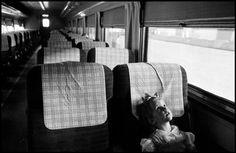 Nebraska--A train, 1959. (c) Erich Hartmann/Magnum Photos