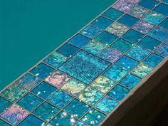 - Lightstreams Glass Pool Tile | Aqua Blue
