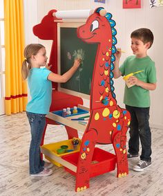 Another great find on #zulily! Dinosaur Easel by KidKraft #zulilyfinds
