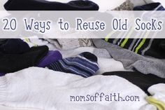 I am convinced that washing machines eat socks–or, there are little elves that steal them some time between going in the wash, and before they come out of the dryer!! It may not be the complete pair that goes, however, there is often at least one sock missing out of every load of laundry I …