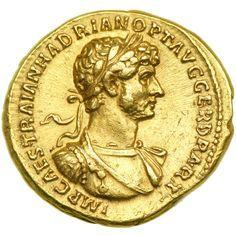 Aúreo de oro de la época de Adriano: 117-138.