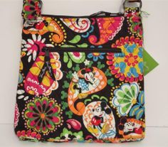 788c7b6332bd Vera Bradley Disney Midnight with Mickey Large Hipster Crossbody Bag Purse