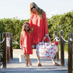 Matching mother-daughter cover-ups perfect for the beach, pool, lake and more. | The Company Store