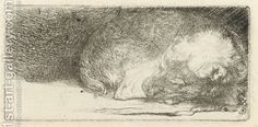 Rembrandt van Rijn Dutch, Sleeping Puppy c. 1640 Etching and drypoint White/Boon no. State iii/iii Rembrandt is famous now for his paintings, but it was his etchings that brought.