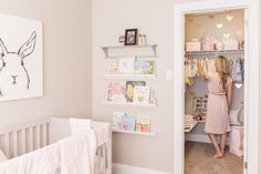 Brielle's Nursery Reveal - Modern Nursery Crib, Girl Nursery, Girl Room, Nursery Ideas, Baby Room, Nursery Decor, Room Ideas, Harper Nursery, Bunny Nursery