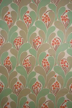 805 Vintage retro wallpaper '70s behang geometrisch patroon