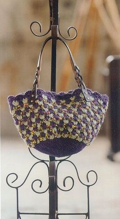 """Crochet : Patrons & modèles gratuits 57 """" Sacs au crochet """" - Le blog de mes loisirs"""