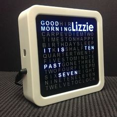 Personalised Word Clock