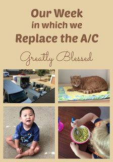 Greatly Blessed: Our Week in which we Replace the A/C