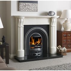 Buy Paros 54 inch Mocha Beige Fireplace Surround from Paros, Multi Fuel Stove, Fire Surround, Fireplace Surrounds, Mocha, New Homes, Home Appliances, Fireplaces, Beige