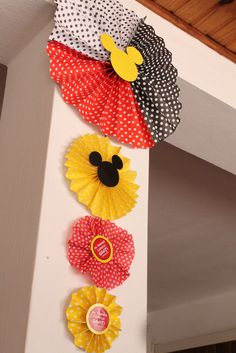 Mickey Mouse Birthday Party Decorations!  See more party ideas at CatchMyParty.com!