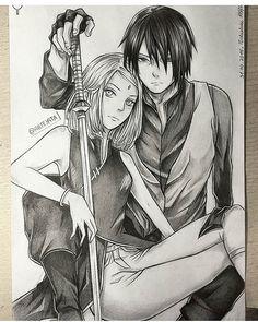 Sakura and Sasuke - Naruto Naruto Uzumaki, Anime Naruto, Shikamaru, Gaara, Naruhina, Naruto Drawings, Sasuke Drawing, Naruto Sketch, Film Anime