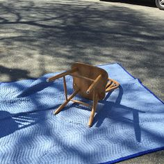 Lonely chair just wants to be wrapped snugly