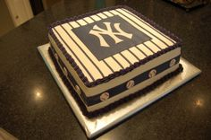 NY Yankees Cake By twosweetcakes on CakeCentral.com