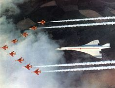 RAF Red Arrows with the pre-production Concord 01