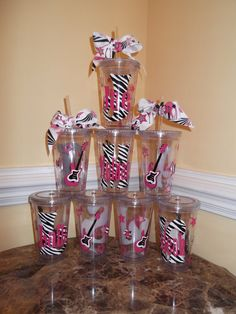 Cute idea for Slumber party favors  cup 16 ounce personalized  by theposhdiva, $8.00