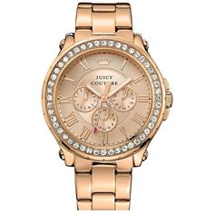 Juicy Couture 'Pedigree' Multifunction Bracelet Watch, 42mm found on Polyvore