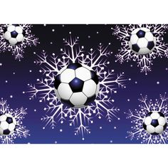 Soccer Snow Christmas Card. Soccer Snow Christmas Card. Let everyone on your Christmas card list know just how much you love soccer. Boxed set of 10 cards and envelopes. Inside message reads; Seasons Greetings. Made in USA.. Price: $5.99