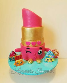 Delightful Lippy Lips Shopkins Birthday Cake