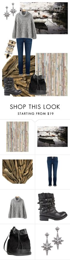 """Fog on the Tyne"" by stella-de-luna-fashion ❤ liked on Polyvore featuring Brewster Home Fashions, Parvez Taj, Puji, Frame Denim, Ash, H&M, Kenneth Jay Lane and Accessorize"