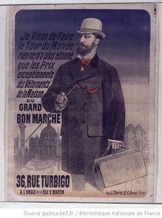 Je viens de faire le Tour du Monde... vêtements de la Maison du Grand Bon  Marché    affiche     Jules Chéret  f6c418533e0