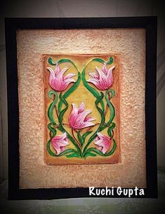 Diy Arts And Crafts, Clay Crafts, Lotus Painting, Murals For Kids, Modern Wall Decor, Rangoli Designs, Mural Art, Block Prints, Ganesha