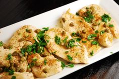 Chicken Francese Recipe – 5 Points   ~ Only 3 carbs.  Serve with brown rice (add a little white wine to the water for an extra oomph of flavor) and a salad with a vinaigrette dressing.  (Dare I suggest one made with a white wine vinegar?  Yummm . . .)
