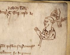 https://flic.kr/p/5A3tHS | Turbulent Priest |  Description:  Pen portrait of a man in clerical dress (probably Thomas Beckett) being hit on the head with a sword, from a book of treasury receipts.   Date:  c.1290   Our Catalogue Reference:  E 36/274  This image is from the collections of The National Archives. Feel free to share it within the spirit of the Commons.  For high quality reproductions of any item from our collection please contact our image library.
