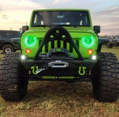 Nice Jeep! I like the green lights, they look cool.