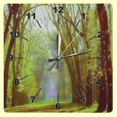 Spring Light Wall Clock by elena_indolfi
