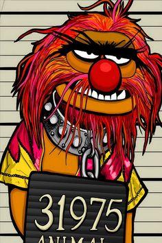 Animal one of muppets mug shot art Animal Muppet, Drums Art, Fraggle Rock, Muppet Babies, Jim Henson, Mug Shots, Disney Wallpaper, Rock Art, Doodle Art