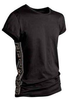 Versace for H & M Men Black Studded T-Shirt