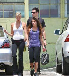 Lea & Cory Leave A Workout Together - June 2012 - Cory Monteith Photo - Fanpop Cory Glee, Glee Cory Monteith, Lea And Cory, Glee Cast, It Cast, Rangers Game, Lea Michele, June, Sporty