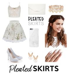 """Pleated Skirts "" by leslie-bermudez ❤ liked on Polyvore featuring Lipsy, New Look, Style & Co., Native Union, REGALROSE, EF Collection, Aamaya by priyanka and pleatedskirts"