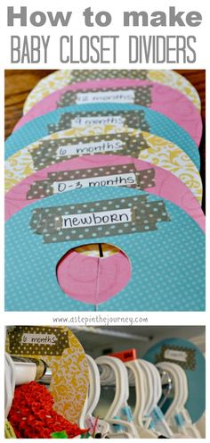 How to Make Baby Closet Dividers....could make to organize stuff other than just baby clothes too in your own closet....